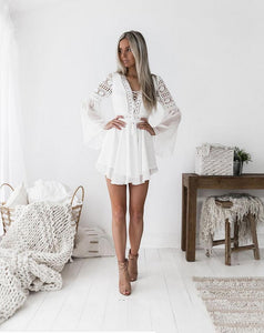 Women's bohemian mini summer dress