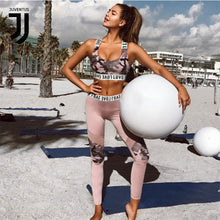 Load image into Gallery viewer, printed sleeveless vest + long pants breathable yoga sportwear suits