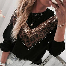 Load image into Gallery viewer, Laamei Winter Loose Leopard Print Sweater