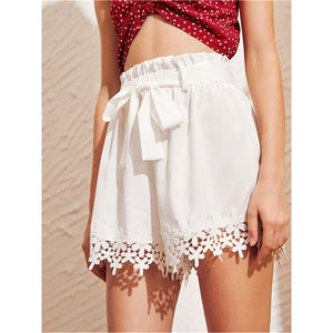 High Waist Women Solid Shorts