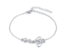Load image into Gallery viewer, Scriptina Personalized Name Bracelets for Women Solid Stainless Steel in Gold Tone Customize Unique Wedding Gift Elegant BFF Bracelet