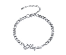 Load image into Gallery viewer, Personalize Name Chain Bracelets for Women Jewelry Gold and Color Stainless Steel Custom Gifts for Her