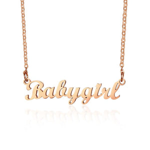 Personalized Name Necklace Custom Made Any Name Font Stainless Steel Metal Women Jewelry