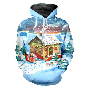 Winter Man Animal Pullover 3D Christmas And Santa Claus Hoodies Printed Oversized 5XL Clothes Men's New Coat
