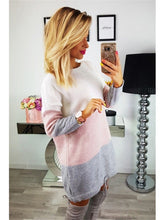 Load image into Gallery viewer, Oversized female long sleeve mesh jumper tops loose casual sweater dress