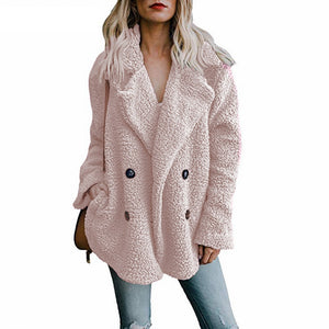 Teddy Coat Women Faux Fur Coats Long Sleeve Fluffy Fur Jackets Winter Warm Female Jacket Women Winter Coats 2020 Plus Size 5XL