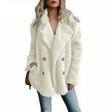 Load image into Gallery viewer, Teddy Coat Women Faux Fur Coats Long Sleeve Fluffy Fur Jackets Winter Warm Female Jacket Women Winter Coats 2020 Plus Size 5XL