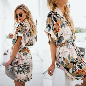 Floral cape dress for women, bandge dress for summer
