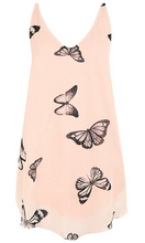 Load image into Gallery viewer, WearAll Women's Chiffon Butterfly Print Lined Sleeveless Dip Hem Vest Top