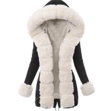 Load image into Gallery viewer, Winter Women Long Cotton Coat Faux Fur Jacket Thick Plush Wool Coat Female Hairy Overcoat Fluffy Warm Outerwear Plus Size