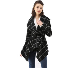 Load image into Gallery viewer, Women Lapel Lie Coat  Woolen Coat Autumn Winter Long Sleeve Pocket Jacket  Office Coats