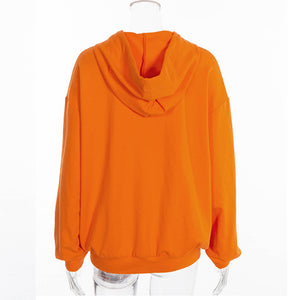 Women's Long Sleeves Orange Shirt
