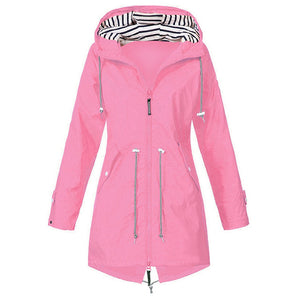 Jacket female autumn with long zipper hiking climbing cycling jacket female coat outwear plus size