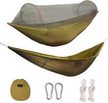 Load image into Gallery viewer, Large Hammock with Mosquito Net 2 Person Pop-up [UPGRADED Much More Portable]