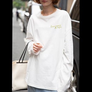 Women's fashion White Long Sleeve Shirt Tops