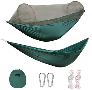 Large Hammock with Mosquito Net 2 Person Pop-up [UPGRADED Much More Portable]