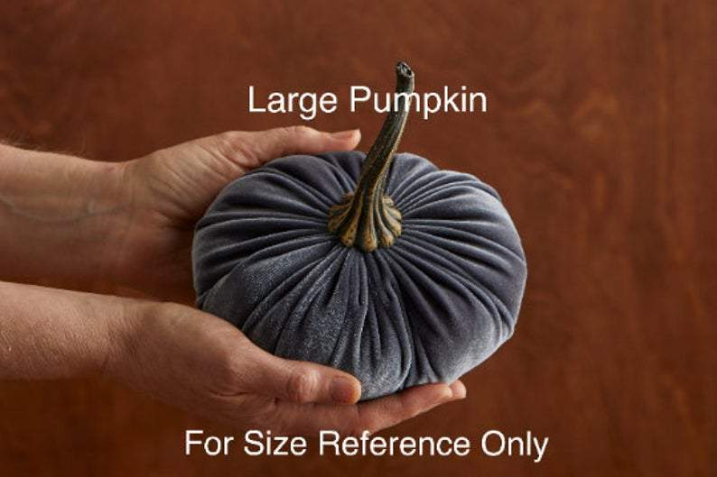 Large Velvet Pumpkins, table centerpiece, Fall decoration, modern rustic wedding decor
