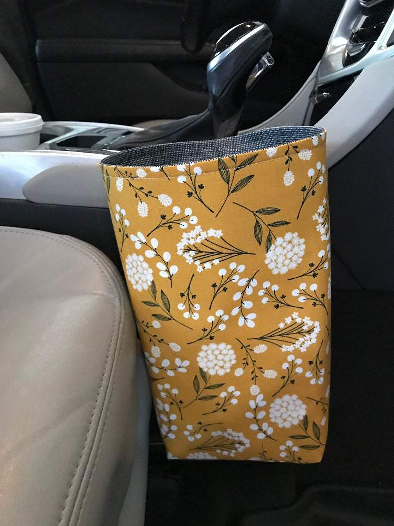 Floral Car Trash Bag