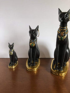 Ancient Egypt Kitty Egyptian Bastet Sculpture Cat Goddess Statue Collectible