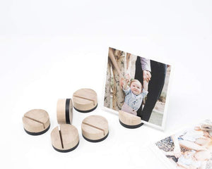 DIPPED ROUND Card Holder | Wood Place Card Holder | Table Number Holder  | Print Holder