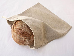 Linen Bread Bag. Boule -Round Loaf. Reusable. Zero Waste