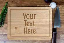 Load image into Gallery viewer, Personalised Chopping Board - Engraved Personalised Wooden Cheese Board, New Home, Wedding, Birthday, Custom Made Gift, Bespoke Wood Board