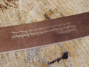 Handmade Leather Bookmark Dark Brown, Gift for Reader, Real Leather, Quaratine Gift Idea, Isolation Present