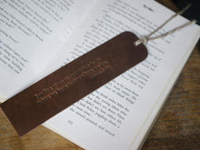 Load image into Gallery viewer, Handmade Leather Bookmark Dark Brown, Gift for Reader, Real Leather, Quaratine Gift Idea, Isolation Present