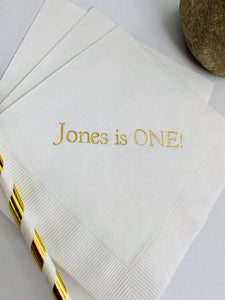 50 PCS Personalized Napkins Personalized Napkins Printed Personalized Cocktail Beverage Paper Birthday Party Monogram Custom Luncheon Avail!