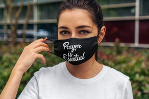 Prayer Is Essential Adult Face Mask Reusable Washable Cotton