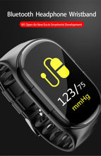 Load image into Gallery viewer, Wireless Bluetooth 5.0 Earphone & Smart Watch with Heart Rate Monitor Stereo Sports Earbuds