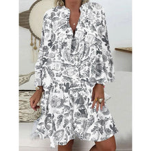 Load image into Gallery viewer, 5XL Floral Printed Women's Blouses Summer Plus Size White Beach Vintage Women's Summer Shirt V Neck Oversize Boho Clothing Tops
