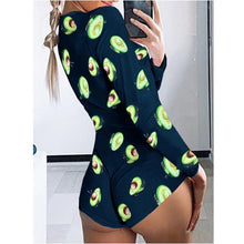Load image into Gallery viewer, Sexy Women Butterfly Onesie Deep V-neck Jumpsuit Button Bodysuit