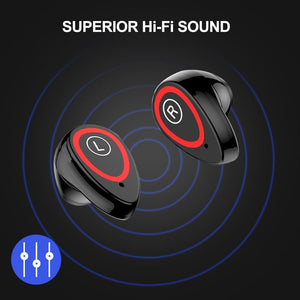 Wireless Bluetooth 5.0 Earphone & Smart Watch with Heart Rate Monitor Stereo Sports Earbuds