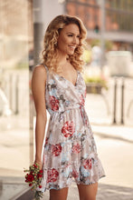 Load image into Gallery viewer, floral dress with an envelope neckline
