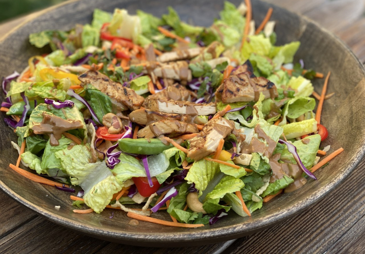 Asian-Style Meati Grilled Chick'n Salad