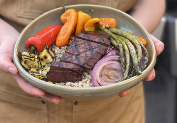 Meati Steak & Balsamic Quinoa Veggie Bowl