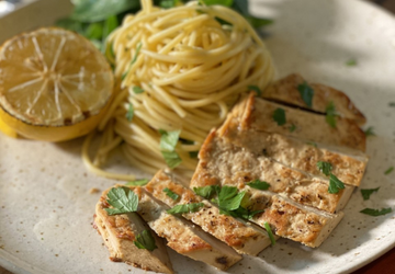 Meati Chick'n Herb & Lemon Pasta