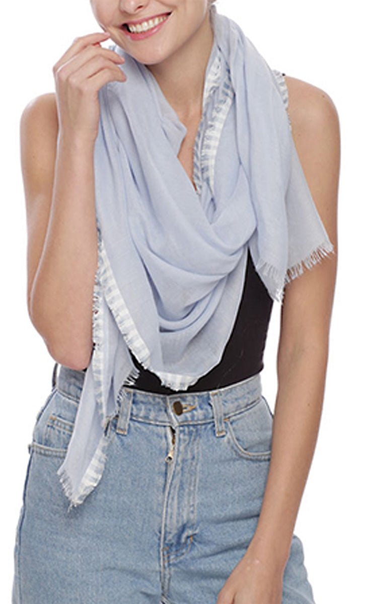 Into The Blue Fringe Scarf