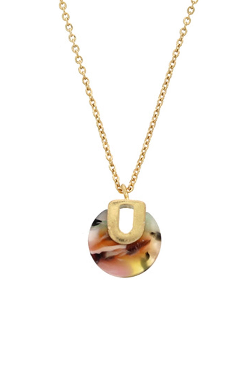 Round In Circles Tortoise Pendant Necklace