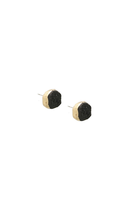 Genuine Druzy Stud Earrings