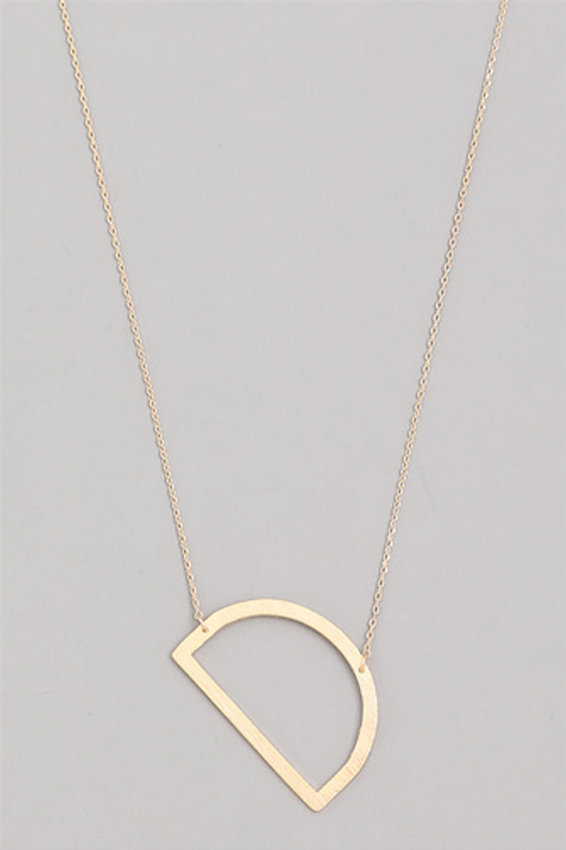 Medium Sideways Initial Necklace - D