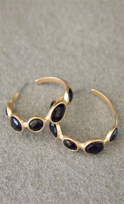 Mila Jewel Hoop Earrings
