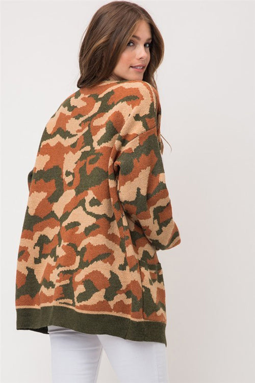 Woman In Action Camo Cardigan