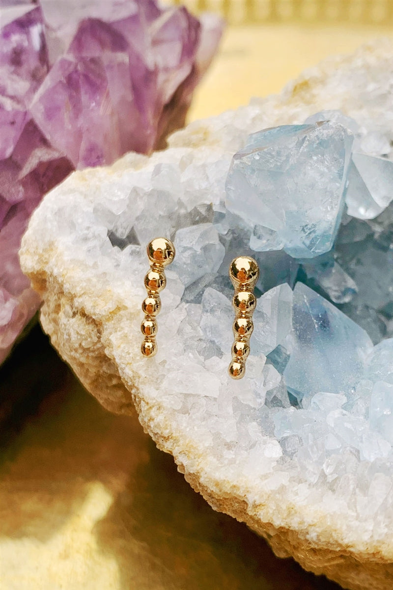 Piece By Piece Bar Stud Earrings