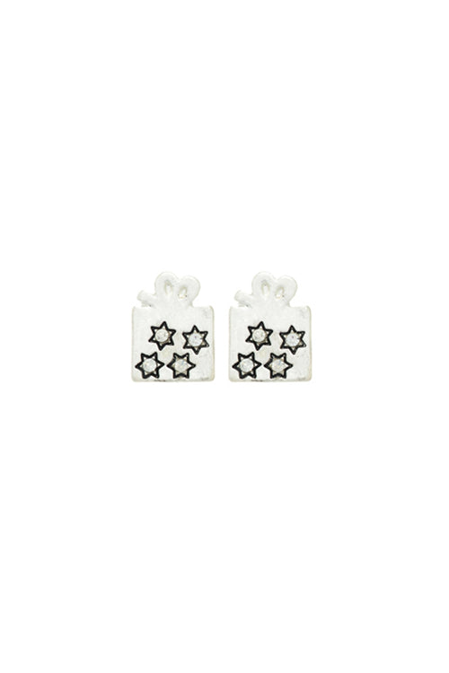 Gift Box Stud Earrings