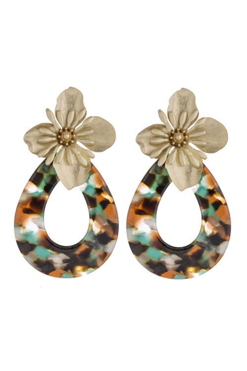 Flower Shower Statement Earrings