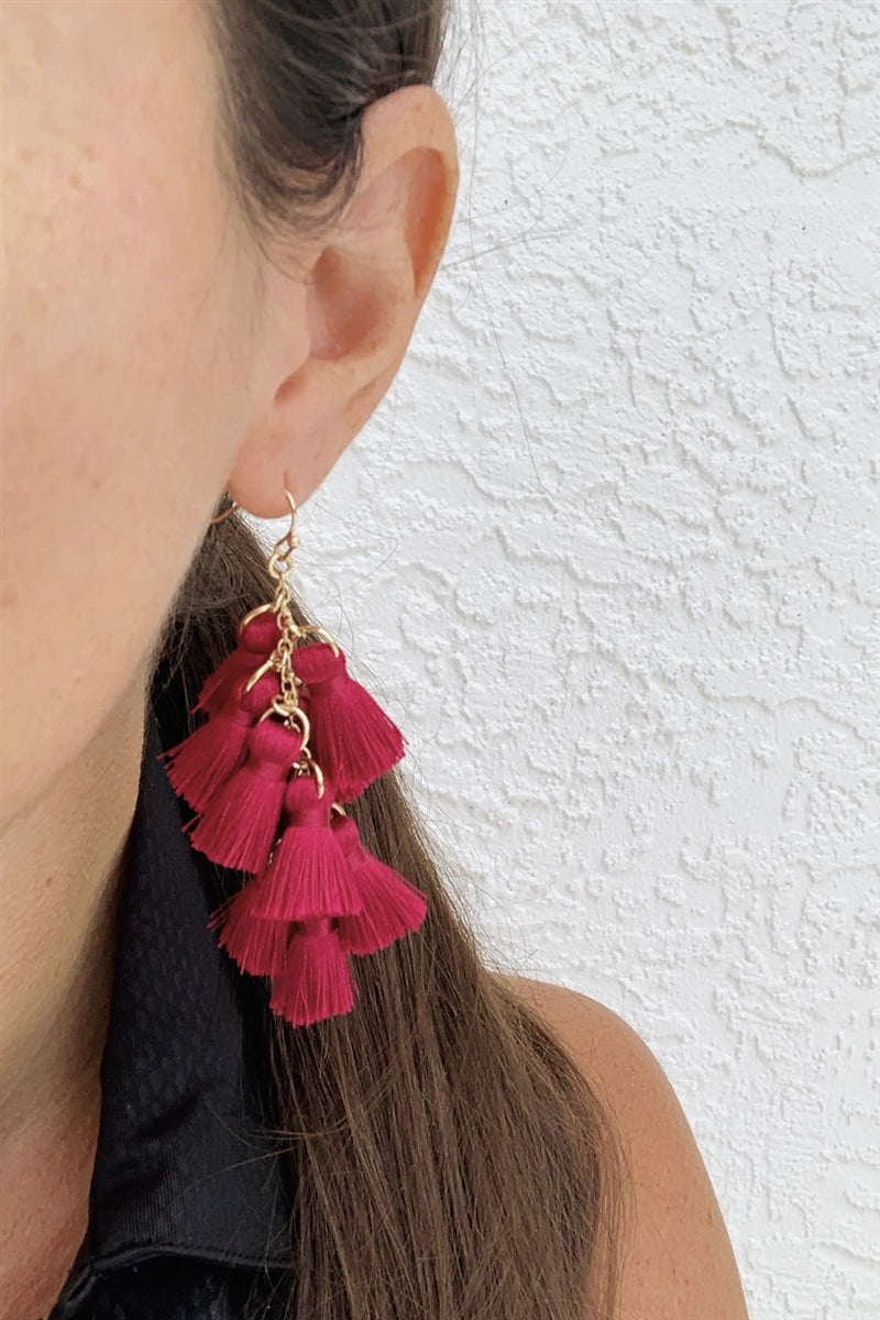 Tassel With Statement Earrings