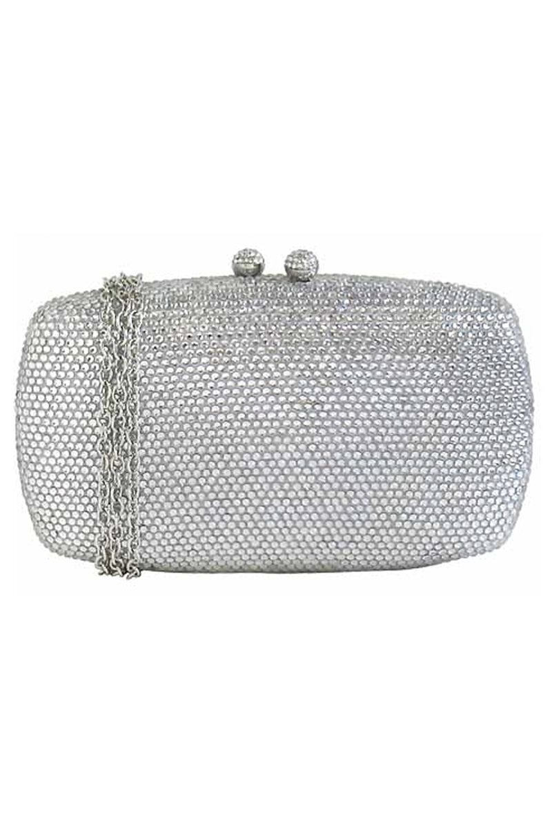 Glam Slam Pave Crystal Box Clutch