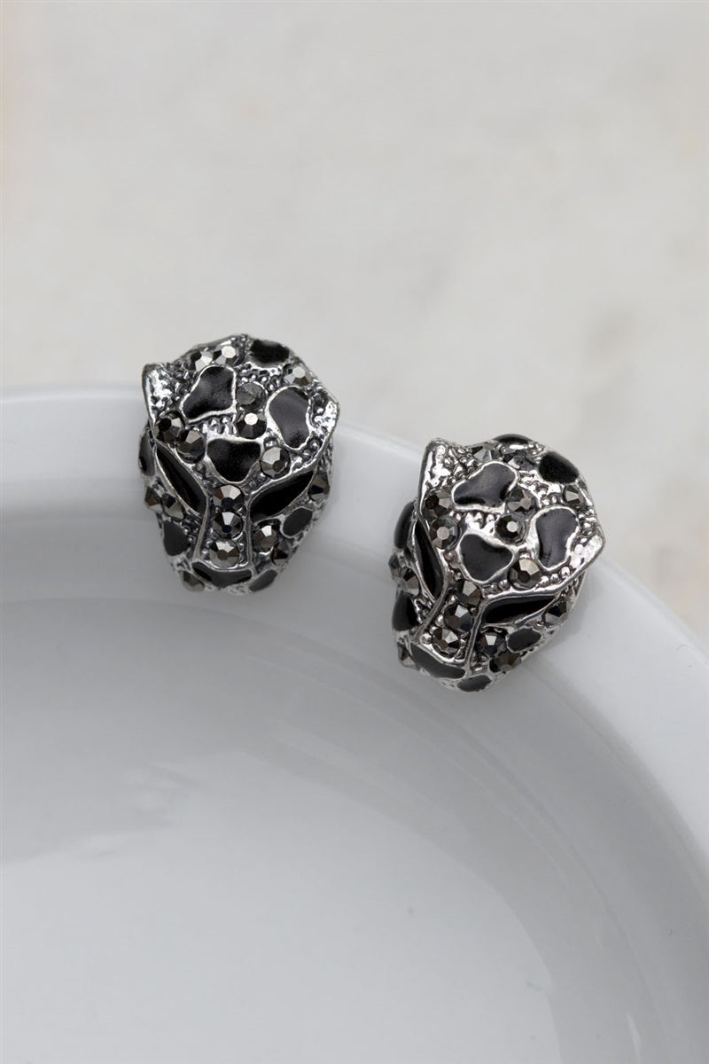 Fierce Leopard Stud Earrings